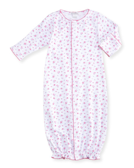 Autumn Breeze Convertible Pima Gown, Size Newborn-Small