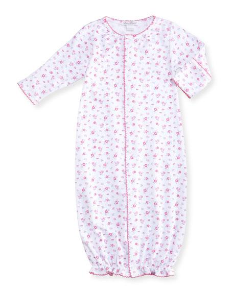 Autumn Breeze Convertible Pima Sleep Gown, Size Newborn-Small