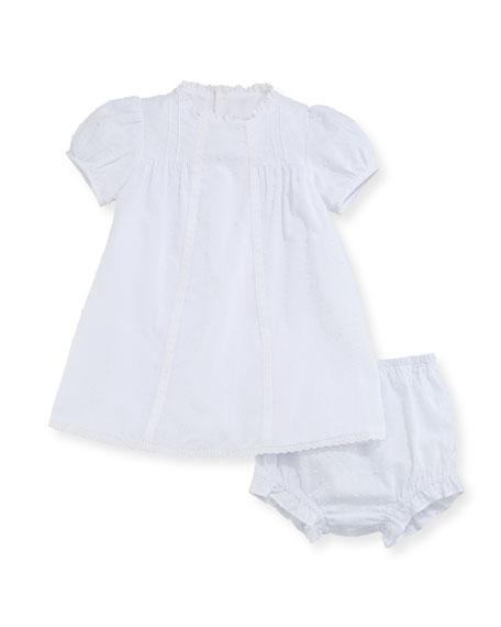 Swiss Dot Dress w/ Bloomers, Size 3-24 Months