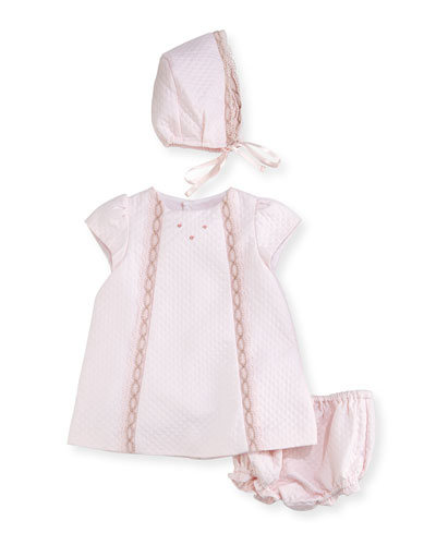 Quilted Pique Layette Set, Size 3-24 Months
