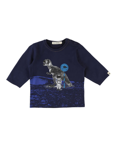 Long-Sleeve T-Rex Space Tee, Size 2-3