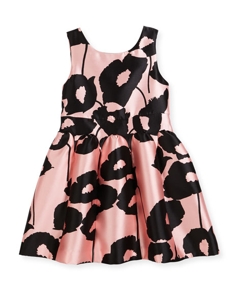 Poppy Floral-Print Party Dress, Size 8-16