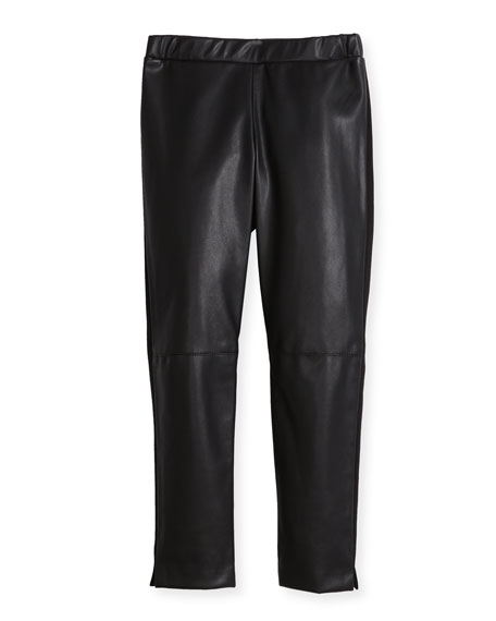Vegan Leather Leggings, Size 4-7