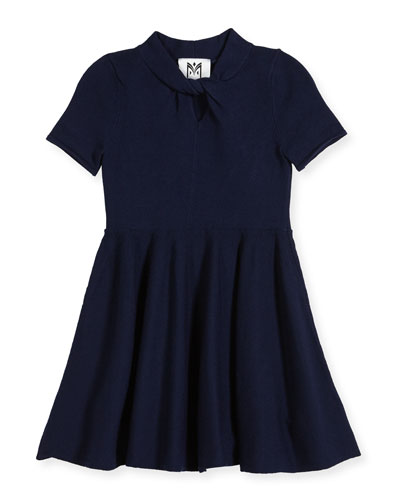 Twist Fit-and-Flare Dress, Size 8-14