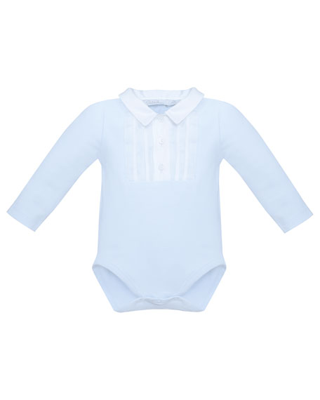 Pintucked Collared Playsuit, Size 3-24 Months