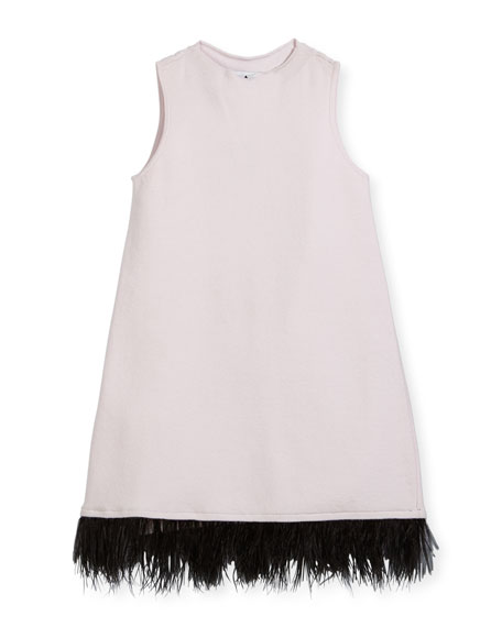 Feather Swing Dress, Size 4-7