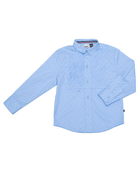 Fore Pin Dot Tuxedo Shirt, Size 2-8