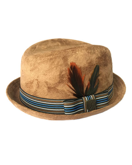 Fore Boys' Sueded Trilby Hat