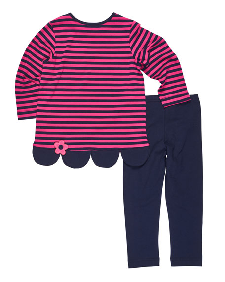 Striped Knit Tunic w/ Solid Leggings, Size 2-6X