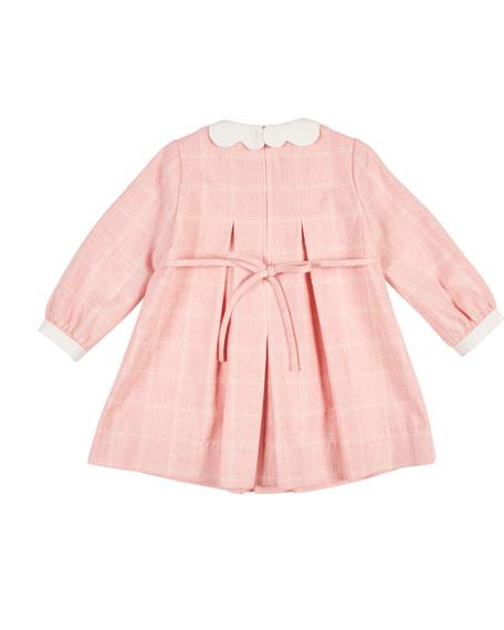 Long-Sleeve Tattersall Dress, Size 3-24 Months
