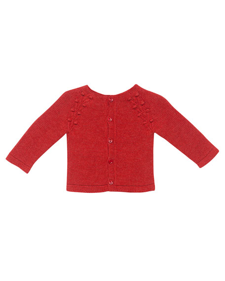 Knit Knot Cardigan w/ Footed Pajamas, Size 1-6 Months