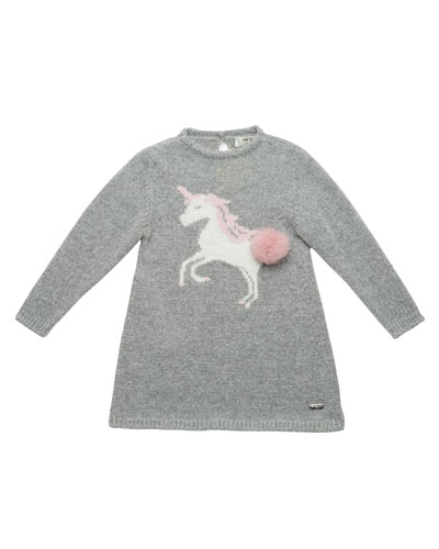 Knit Unicorn Sweater Dress, Size 2-6