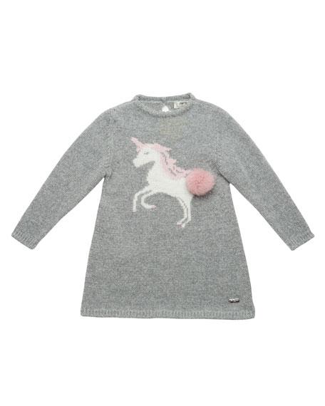 Knit Unicorn Sweater Dress, Size 2-6
