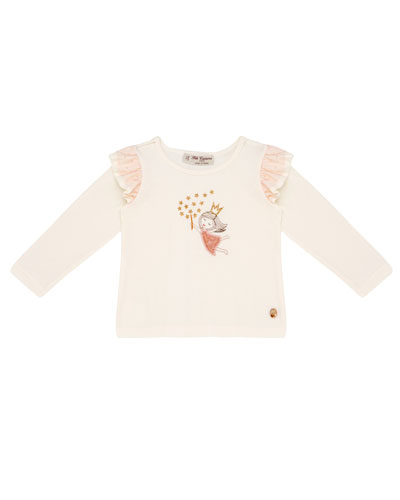 Long-Sleeve Fairy Princess T-Shirt, Size 12M-4T