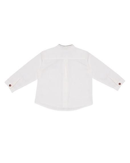 Mandarin-Collar Shirt, Size 12M-3T