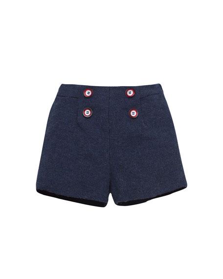 Flat-Front Dress Shorts, Size 12M-3T