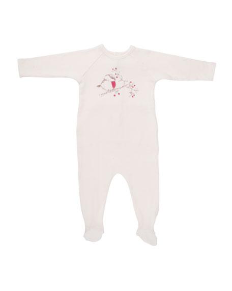 Bird Graphic Footie Pajamas, Size 1-6 Months