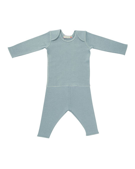 Solid Envelope-Shoulder T-Shirt w/ Leggings, Size 1 Month-2T