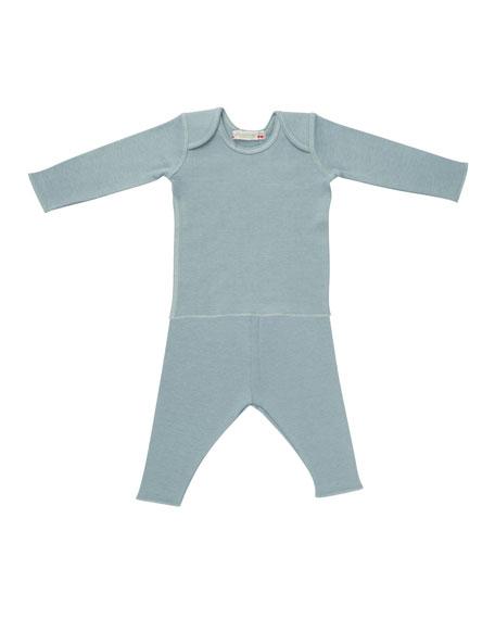 Solid Envelope-Shoulder T-Shirt w/ Leggings, Size 1 Month-2T
