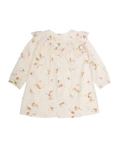 Swiss-Dot Floral-Print Dress, Size 6 Months-2T