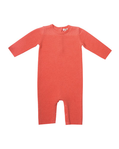 Knit Cotton Coverall  Size 1-12 Months