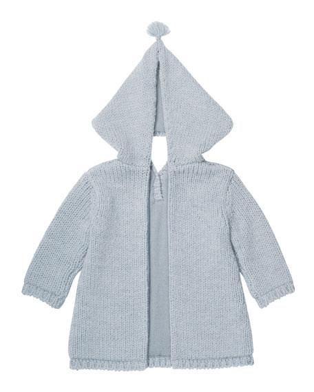 Zip-Back Knit Jacket, Size 3 Months-2T