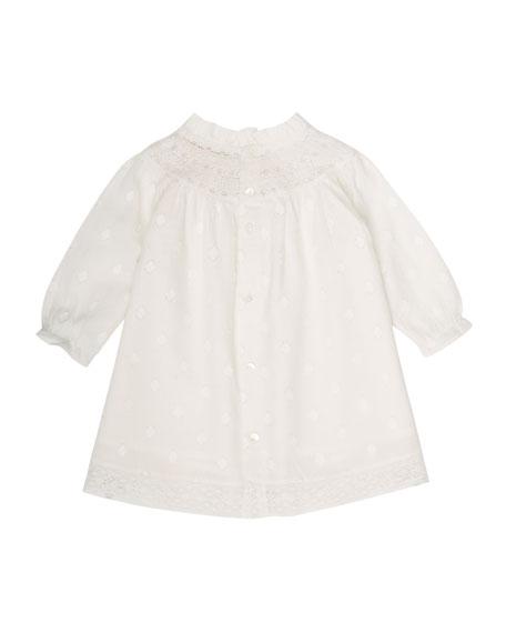 Bonpoint Dots Babydoll Dress, Size 6 Months-2T