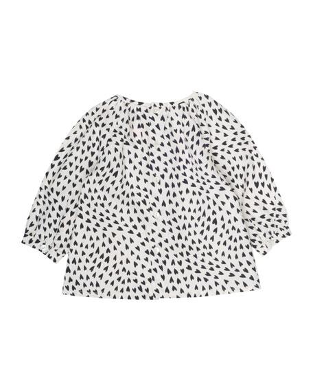 Heart-Print Blouse, Size 6 Months-2T