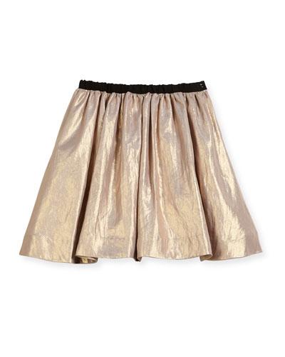 Metallic A-Line Skirt, Size 3-8