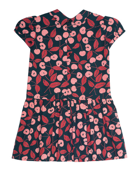 Cherry-Print Dress, Size 3-8