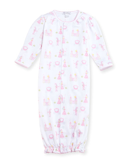 Enchanted Princess Convertible Pima Sleep Gown, Size Newborn-Small