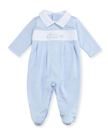 Kissy Kissy Steam Engine Footie Pajamas, Size Newborn-9M