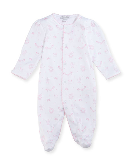 Rockabye Buggy Printed Footie Pajamas, Size Newborn-9M