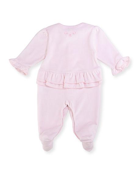 Rockabye Buggy Velour Footie Pajamas, Size Newborn-9M