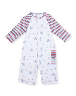 Pup Paw-trol Printed Coverall, Size 3-24 Months
