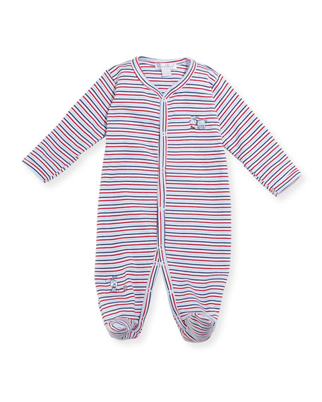 Pup Paw-trol Striped Footie Pajamas, Size Newborn-9M