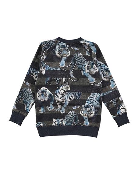 Romeo Long-Sleeve Striped Sweatshirt, Size 4-12