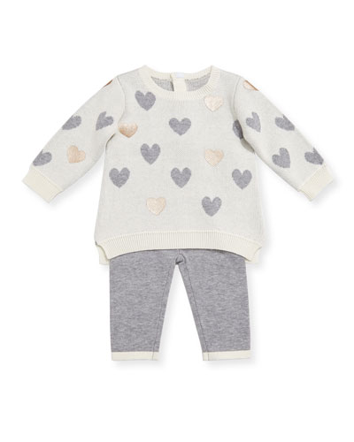 Heart Sweater w/ Leggings, Size 3-9 Months