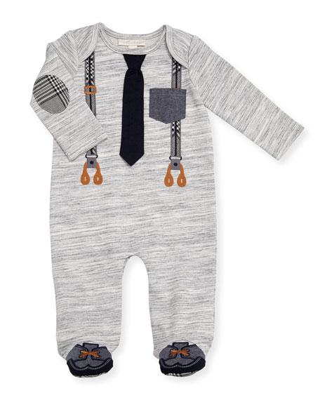 Mock-Suspenders Footie Pajamas, Size 3-9 Months