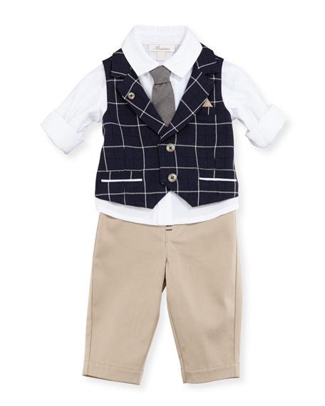 Mock-Vest Shirt w/ Pants, Size 12-24 Months