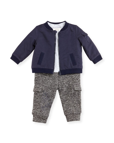 Miniclasix Jacket, Knit Shirt & Pants Layette Set,