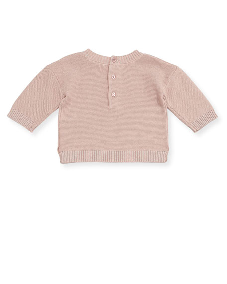 Metallic Knit Sweater w/ Leopard Tutu Leggings, Size 2-4