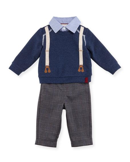 Miniclasix Sweater Layette Set, Size 2-4