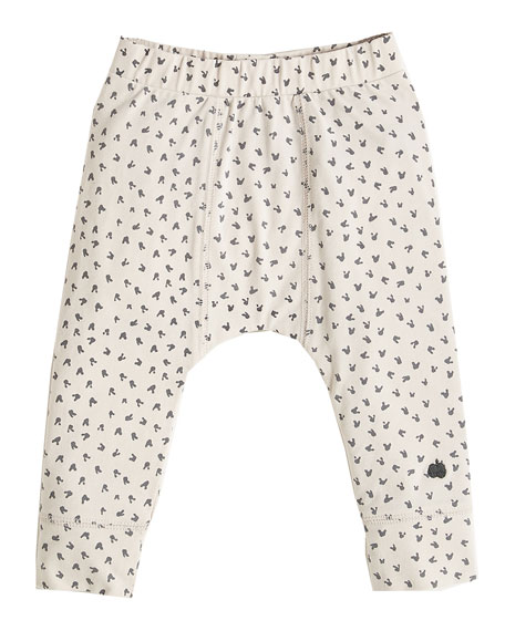 bonniemob Bunny Print Leggings, Light Gray, Size 3-24