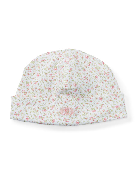 Floral-Print Pima Baby Hat