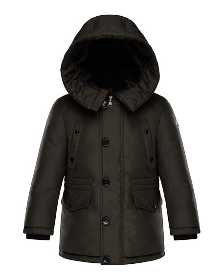 Moncler Dirk Long-Parka Coat, Size 8-14
