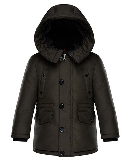 Dirk Long-Parka Coat, Size 4-6