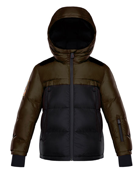 Moncler Harvey Technical Ski Jacket, Size 4-6