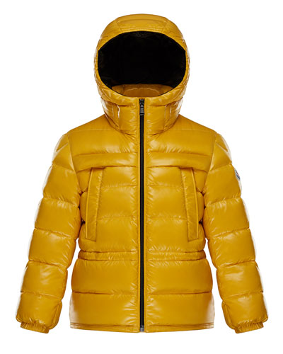 Gibran 2 Hooded Quilted Coat, Yellow, Size 4-6
