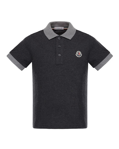 Maglia 1 Two-Tone Short-Sleeve Polo, Charcoal, Size 4-6